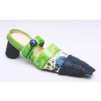 Blue Rose Buckle Up Shoe