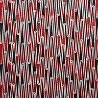 Untitled (Large Red Kowhaiwhai)