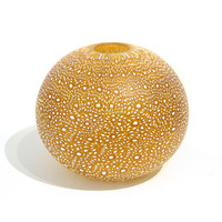 Small Brilliant Gold Murrine Vessel [13663]