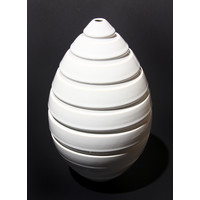 White Grooved Beehive Bottle [10-16]