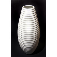 White Grooved Beehive Bottle [10-19]