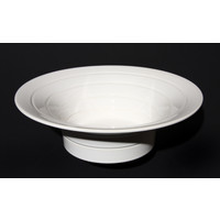 White Grooved Flared Bowl [10-23]