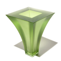 Curved Square Vase (Pale Pinot)