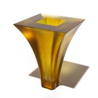 Geometric Vase #5 (Chardonnay)