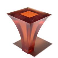 Geometric Vase (Rhubarb)