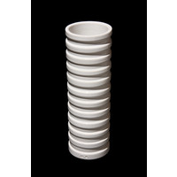 White Grooved Cylinder [13-23]
