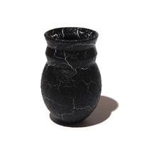 Black Crawled Zig-Zag Vase [13-30]