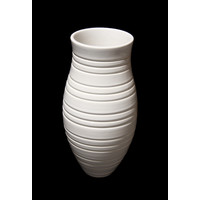 White Grooved Vessel [13-49]