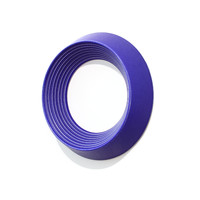 Matt Crystalline Blue Grooved Wall Ring [14-2]
