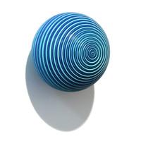 Matt Blue/Black Grooved Orb [14-114]