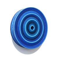 Matt Blue/Black Zig-Zag Ring [14-122]