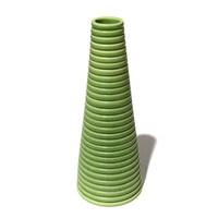 Lime Green Conical Vase [14-136]