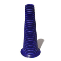 Matt Blue Conical Vase [14-137]