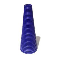 Matt Blue Conical Vessel [14-139]