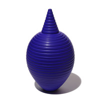 Matt Blue Conical Necked Bottle [14-143]