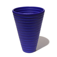 Matt Blue Conical Bowl [14-146]
