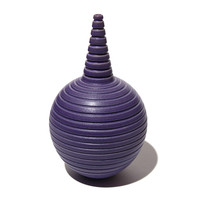 Matt Purple Conical Necked Bottle [14-147]
