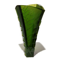 Fern Vase #3 (Dark Olive Green)