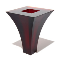 Geometric Vase #8 (Dark Red)