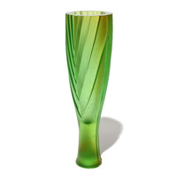 Flax Vase #10 (Pale Green / Yellow)