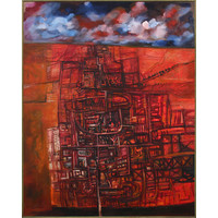 City in a Red Landscape