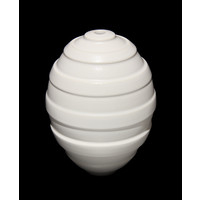Semi Matt White Grooved Orb [15-16]