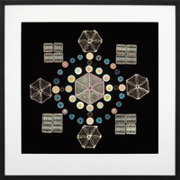 Arranged Diatoms - Exhibition Mount by J D Moller, ca 1880
