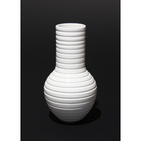 Shiny White Grooved Vessel [17-18]
