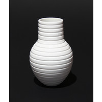 Shiny White Grooved Vessel [17-21]