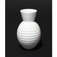 Matt White Grooved Vessel [17-31]