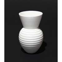 Shiny White Grooved Vessel [17-33]