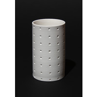 Matt White Spotted Cylinder [17-62]