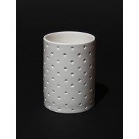 Matt White Spotted Cylinder [17-63]