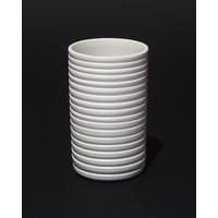 Matt White Grooved Cylinder [17-78]
