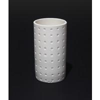 Matt White Spotted Cylinder [17-79]