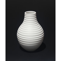 Matt White Grooved Vessel [18-6]