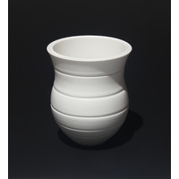 Matt White Split Rim Vessel [18-11]