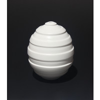 Matt White Ridged Orb [18-17]