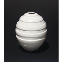 Matt White Ridged Orb [18-19]