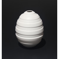 Matt White Ridged Orb [18-20]