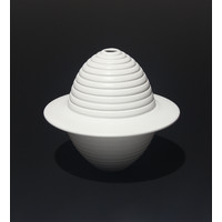 Matt White Grooved Flanged Orb [18-24]