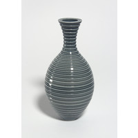Shiny Grey Grooved Bottle [18-26]