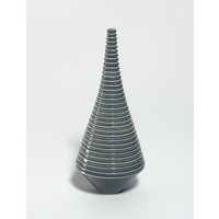 Shiny Grey Grooved Conical Bottle [18-31]