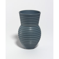Matt Grey Grooved Vessel [18-34]