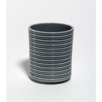 Shiny Grey Grooved Vessel [18-39]