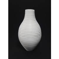 Matt White Grooved Bottle [18-41]