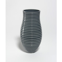 Shiny Grey Grooved Vessel [18-44]