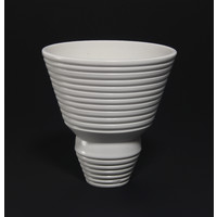 Matt White Grooved Bowl [18-45]