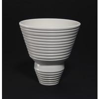 Matt White Grooved Bowl [18-45]
