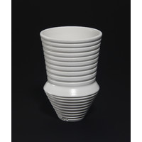 Matt White Grooved Vessel [18-46]